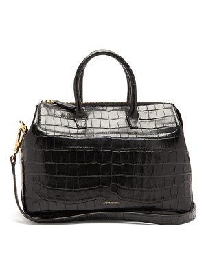 Mansur Gavriel travel mini crocodile-embossed leather bag