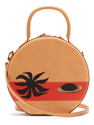 Mansur Gavriel x calder circle printed leather cross-body bag