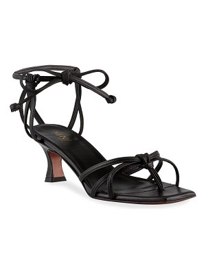 MANU Atelier 50mm Napa Strappy Ankle-Tie Sandals
