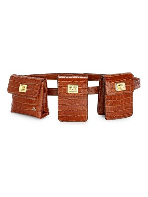 MANU Atelier croco-embossed leather tech belt bag