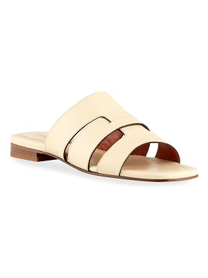 MANU Atelier Woven Caged Leather Flat Sandals