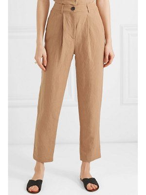 Mara Hoffman dita tencel and linen-blend straight-leg pants