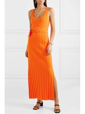 Mara Hoffman harlow belted ribbed organic cotton maxi dress