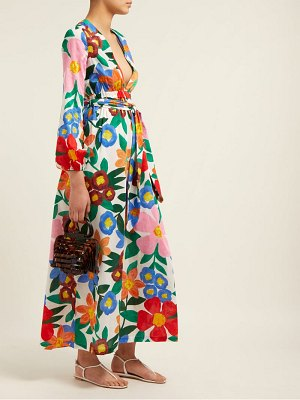 Mara Hoffman Luna Floral Print V Neck Maxi Dress