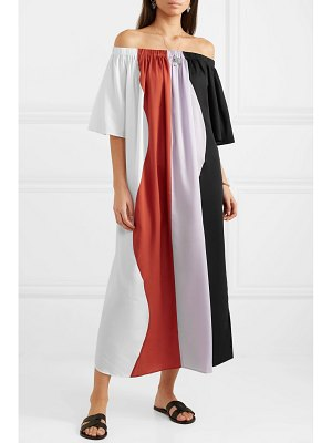 Mara Hoffman sala off-the-shoulder striped voile dress