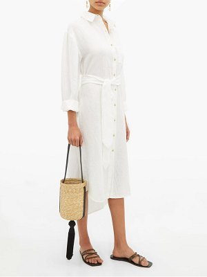 Mara Hoffman sylvia belted linen shirtdress