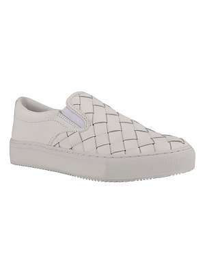 MARC FISHER LTD Calla Woven Leather Slip-On Sneakers