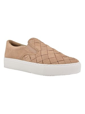MARC FISHER LTD Calla Woven Suede Slip-On Sneakers