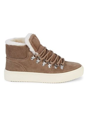 MARC FISHER LTD Daisie Faux Fur-Lined Suede Sneakers