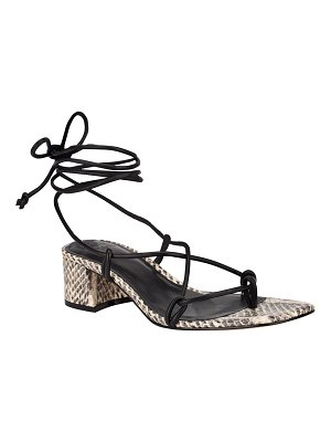 MARC FISHER LTD Jacinda Mixed Leather Ankle-Tie Sandals