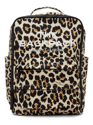 Marc Jacobs beige the leopard backpack