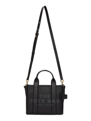 Marc Jacobs black leather the mini traveler tote bag