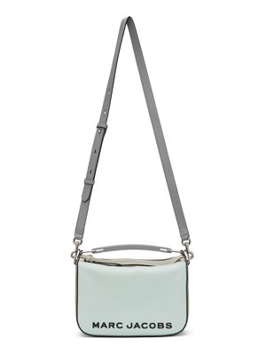 Marc Jacobs blue and green the softbox 23 top handle bag