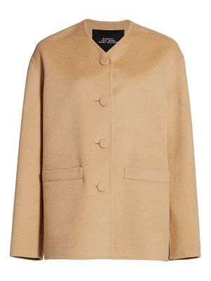 Runway Marc Jacobs boxy v-neck wool-blend cardigan jacket