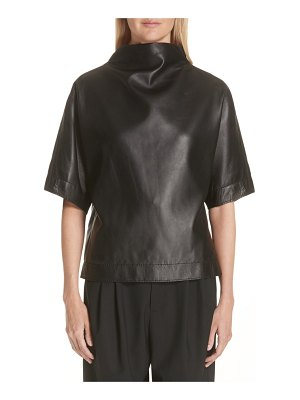 Marc Jacobs button back leather top