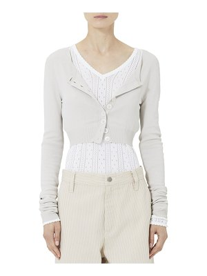 Marc Jacobs Cropped Cardigan with Mother-of-Pearl Buttons