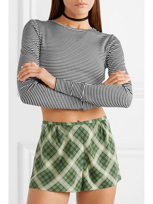 Marc Jacobs cropped striped stretch-jersey top