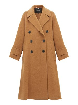 Marc Jacobs double breasted alpaca blend trapeze coat