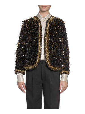 Marc Jacobs Runway Embroidered Feather Open Blazer