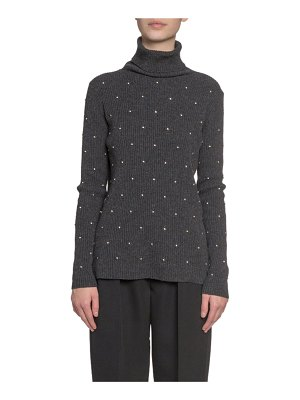 Marc Jacobs Runway Embroidered Wool-Cashmere Turtleneck Sweater