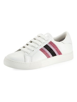 Marc Jacobs Empire Embellished Leather Low-Top Sneakers