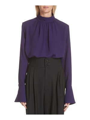Marc Jacobs flare cuff silk top