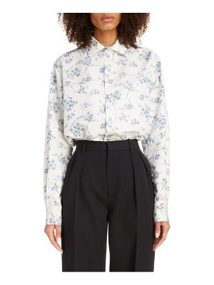 Marc Jacobs floral print silk shirt