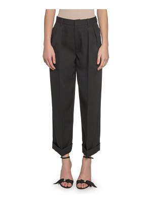 Marc Jacobs Runway Folded-Cuff Pleated Pants