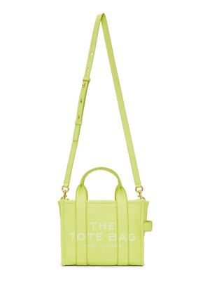Marc Jacobs green leather the mini traveler tote bag