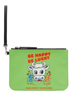 Marc Jacobs green magda archer edition the wristlet clutch