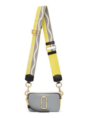 Marc Jacobs grey and yellow the snapshot bag