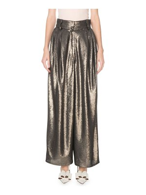 Marc Jacobs High-Rise Wide Leg Sequined Dressy Trousers