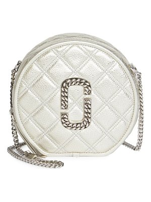 Marc Jacobs the status metallic leather crossbody bag