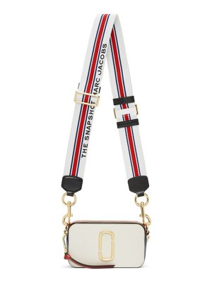 Marc Jacobs off-white and red small snapshot bag