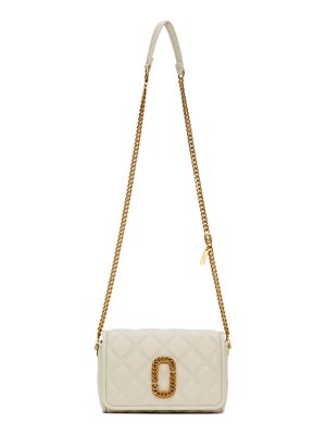 Marc Jacobs off-white the status flap crossbody bag