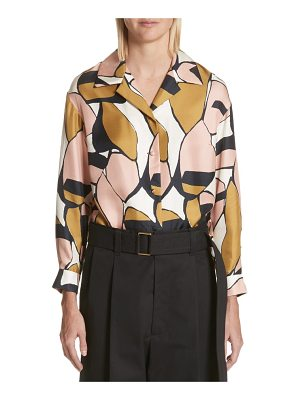 Marc Jacobs oversize print silk shirt