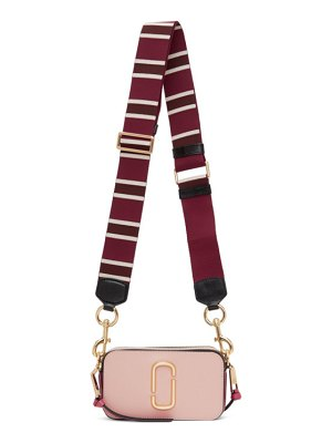 Marc Jacobs pink and burgundy the snapshot bag