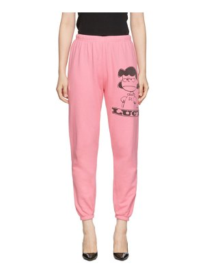 Marc Jacobs pink peanuts edition the gym lucy lounge pants