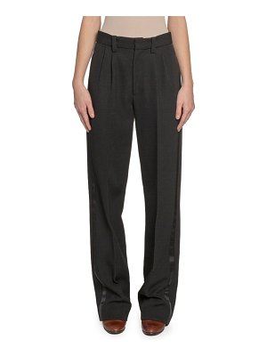 Marc Jacobs Runway Pleated-Front Wool Straight-Leg Pants