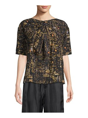 Marc Jacobs printed silk top with bow