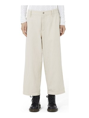 Marc Jacobs Redux Grunge Striped Cropped Flat-Front Pants