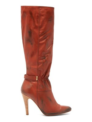 Marc Jacobs Runway ruched-front distressed-leather boots
