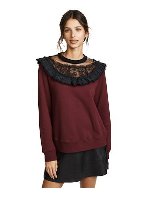 Marc Jacobs ruffle sweatshirt with lace