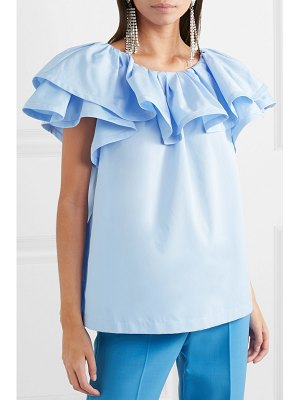 Marc Jacobs ruffled cotton-poplin top