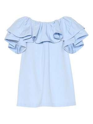 Marc Jacobs Ruffled cotton poplin top