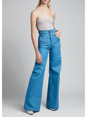 Marc Jacobs Runway Braided-Waist Flared Jeans