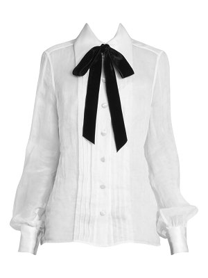 Marc Jacobs runway pleated tieneck blouse