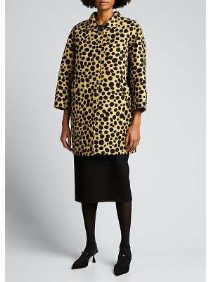 Marc Jacobs Runway Spotted Oversized Wool-Blend Coat