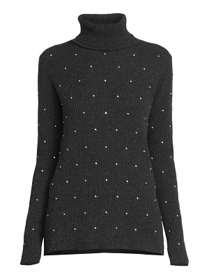 Marc Jacobs runway strass embroidered rib-knit turtleneck sweater