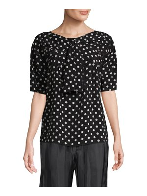 Marc Jacobs silk polka dot bow top